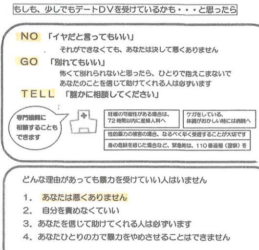 「NO」「GO」「TELL」