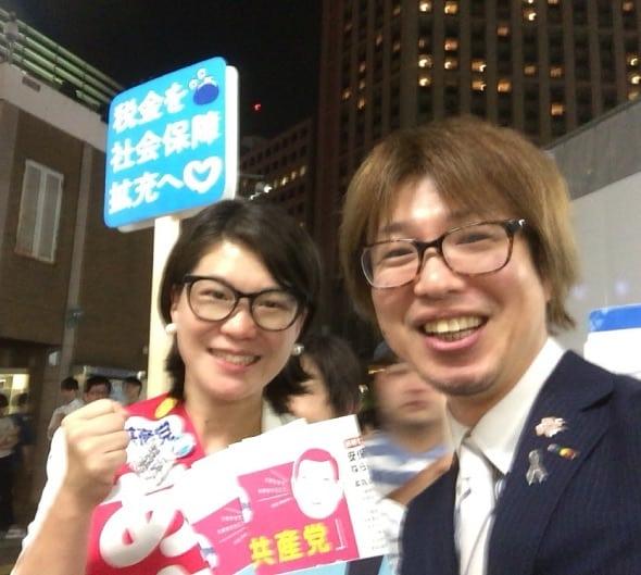 7月8日・横浜駅西口にて
