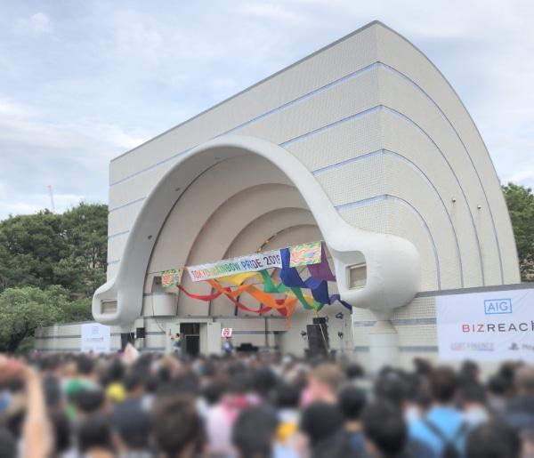 東京レインボープライドのステージの様子
