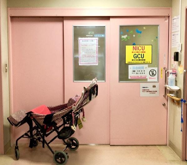 うわまち病院NICU入り口