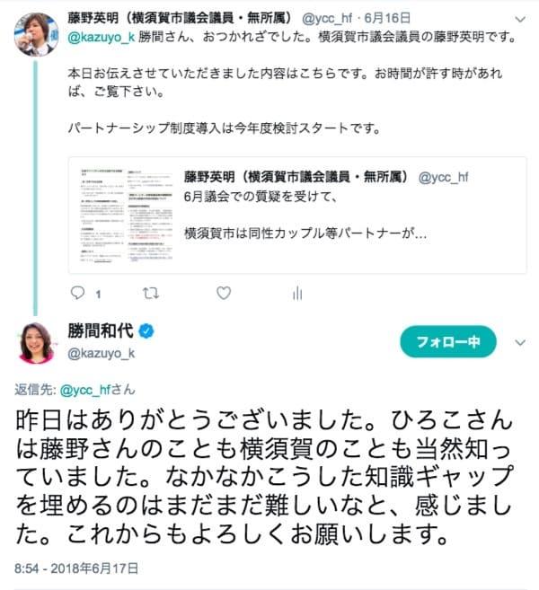 勝間和代さんからお返事をいただきました
