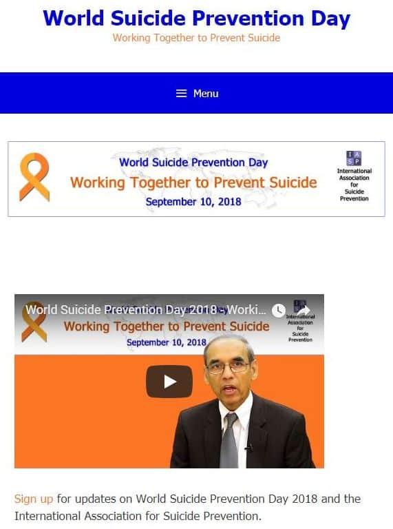 「世界自殺予防デー」のサイト