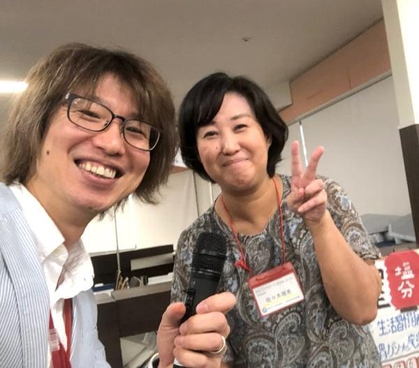 懇親会の司会を佐々木理恵さんと担当しました