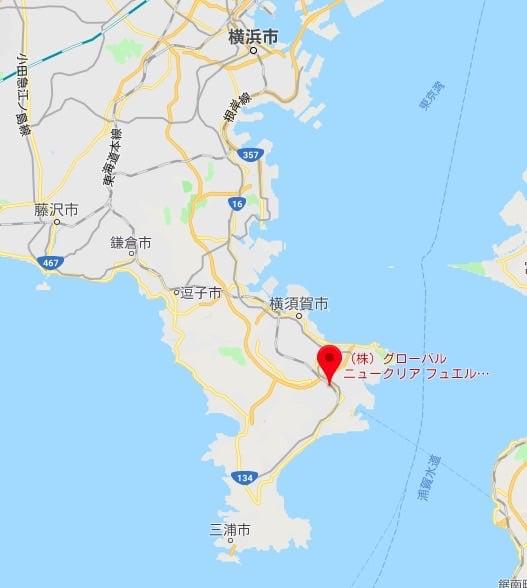 GNF-Jは三浦半島の真ん中にあります