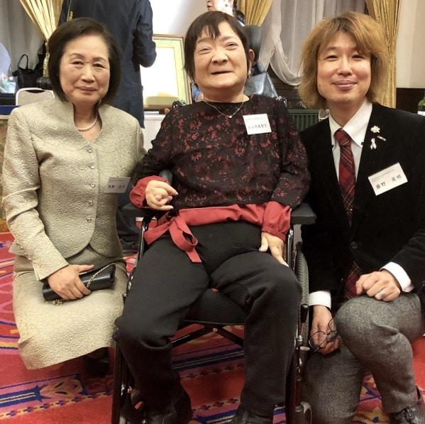 浅野光子さん、小山内美智子さんと。