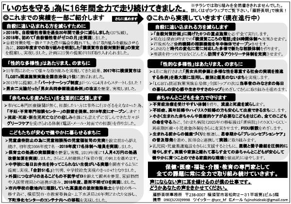 藤野英明の選挙チラシ2ページ目