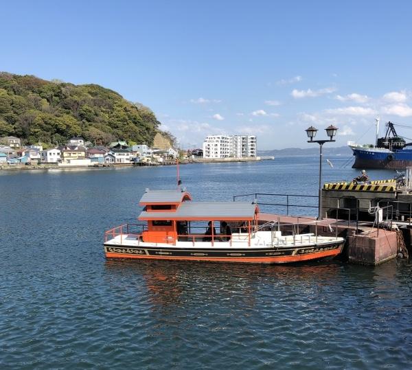 西叶神社側から浦賀の渡船乗り場へ向かいました