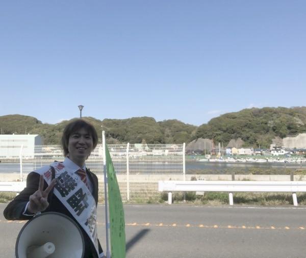 大好きな浦賀に演説に来ました