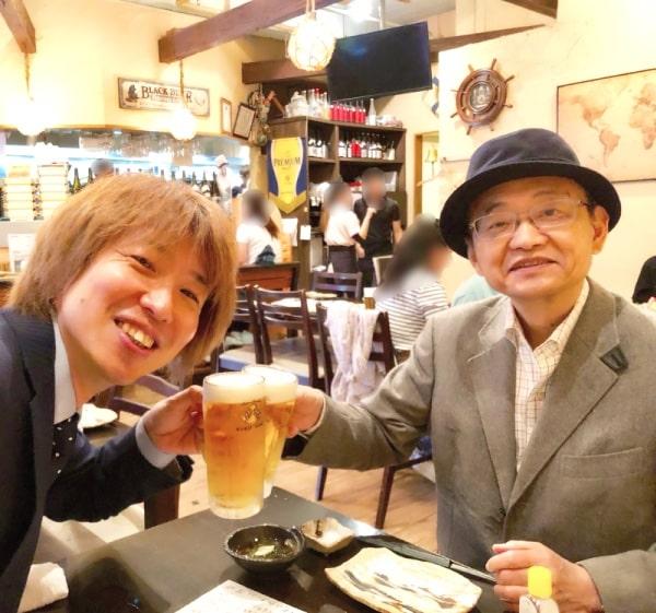 アサノ先生と乾杯