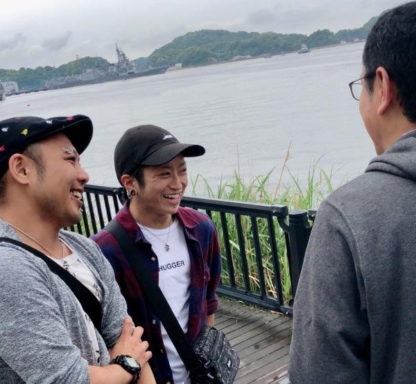 太田記者とおふたり。みんな笑顔です