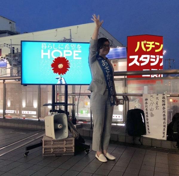 モニターに映し出されている花・ガーベラの花言葉は「希望」です