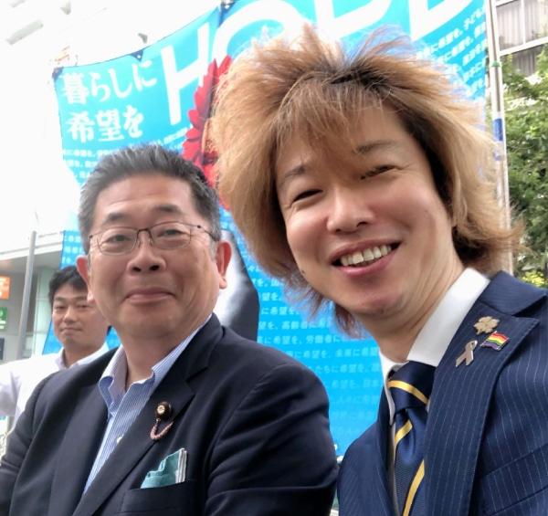 小池晃書記局長とフジノ