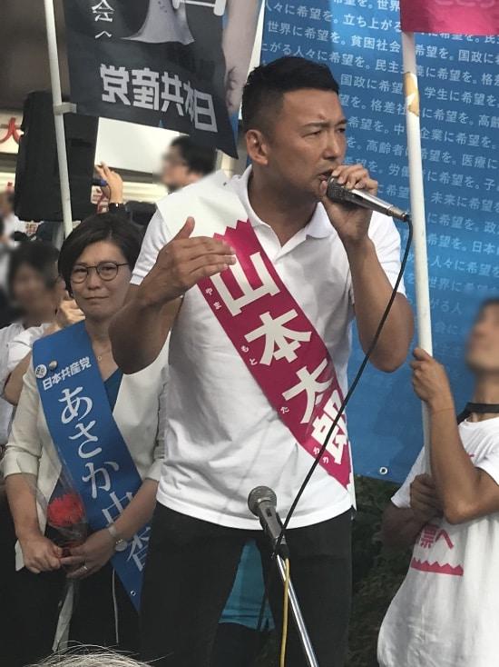 魂のこもった太郎さんの応援演説