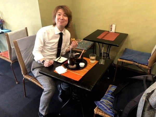 NPO法人一の会の「和カフェ」にて